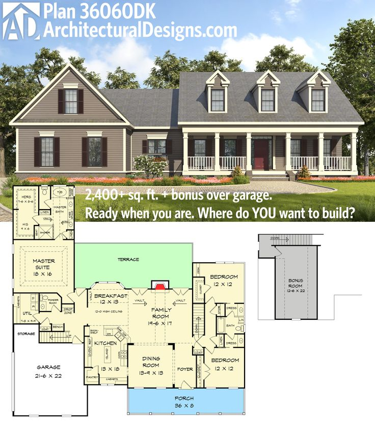 plan 36060dk appealing 3 bed country house plan - Country House Floor Plans