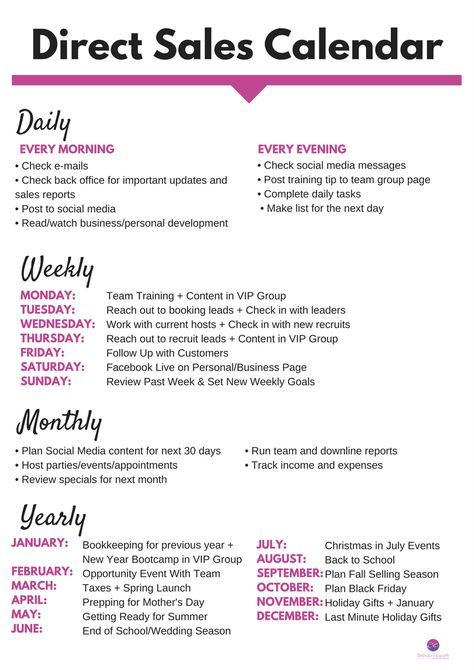 Direct S Calendar From Step Into Success Scentsy Younique Mary Kay Business Ideas