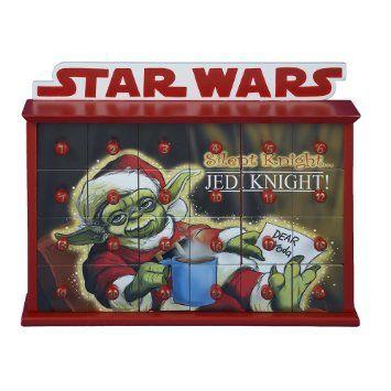 "Kurt Adler 12"" Star Wars Yoda Jedi Advent Calendar"