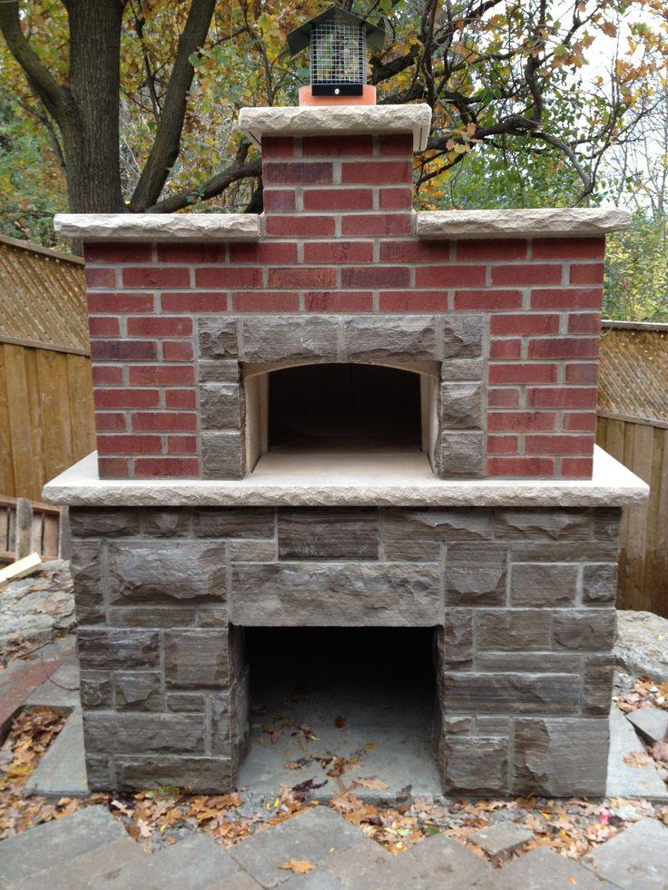 Brick and Stone Pizza oven.