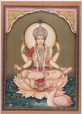 I love this Saraswati print! (Always looking for more Indian miniatures.)