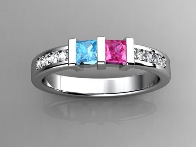Hoping to get this someday with the boys' birthstone.  Both are March - aquamarine.  I think it's beautiful