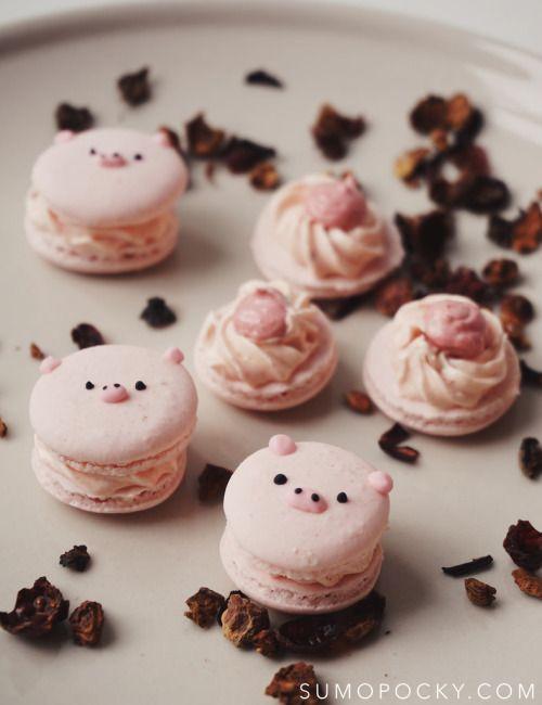 Sumopocky: Strawberry and Mango Tea Macaron RecipeReally nice  Mein Blog: Alles rund um die Themen Genuss & Geschmack  Kochen Backen Braten Vorspeisen Hauptgerichte und Desserts # Hashtag