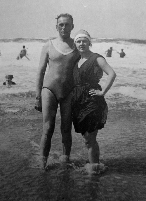 Adolf Loos and Elsie. Smile for once in your life you big grouch.