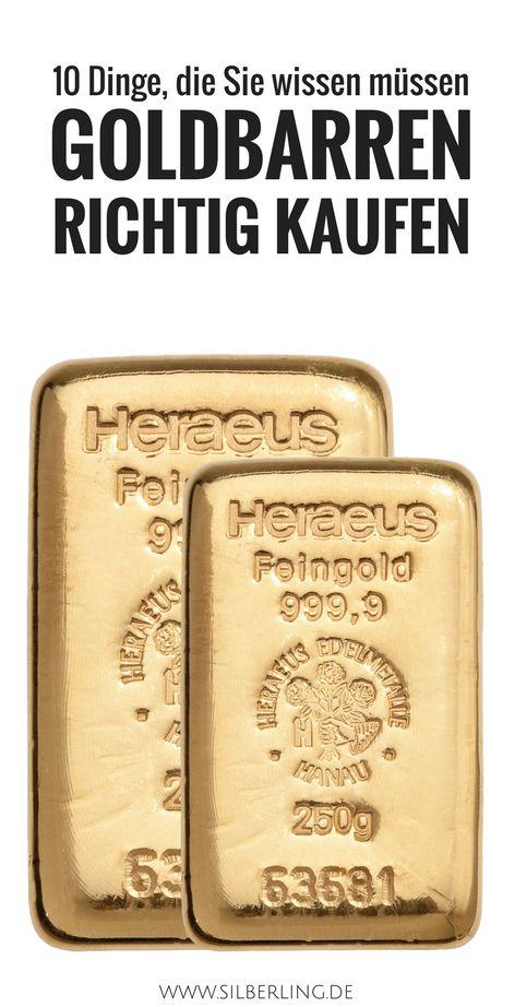 Goldbarren kaufen - diese Dinge müssen Sie wissen bevor Sie in Ihre finanzielle Unabhängigkeit starten. Alles über den Goldbarren Preis, Wann Sie Goldbarren kaufen müssen und was eigentlich besser ist, Goldmünzen oder kaufen Goldbarren