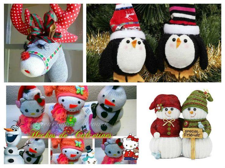Aprovecha estos tutoriales navideños para reutilizar los calcetines desparejados.