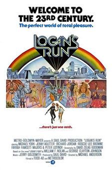 Logan's Run is a 1976 science fiction film directed by Michael Anderson and starring Michael York, Jenny Agutter, Richard Jordan, Roscoe Lee Browne, Farrah Fawcett and Peter Ustinov. The screenplay by David Zelag Goodman was based on the novel of the same name by William F. Nolan and George Clayton Johnson.