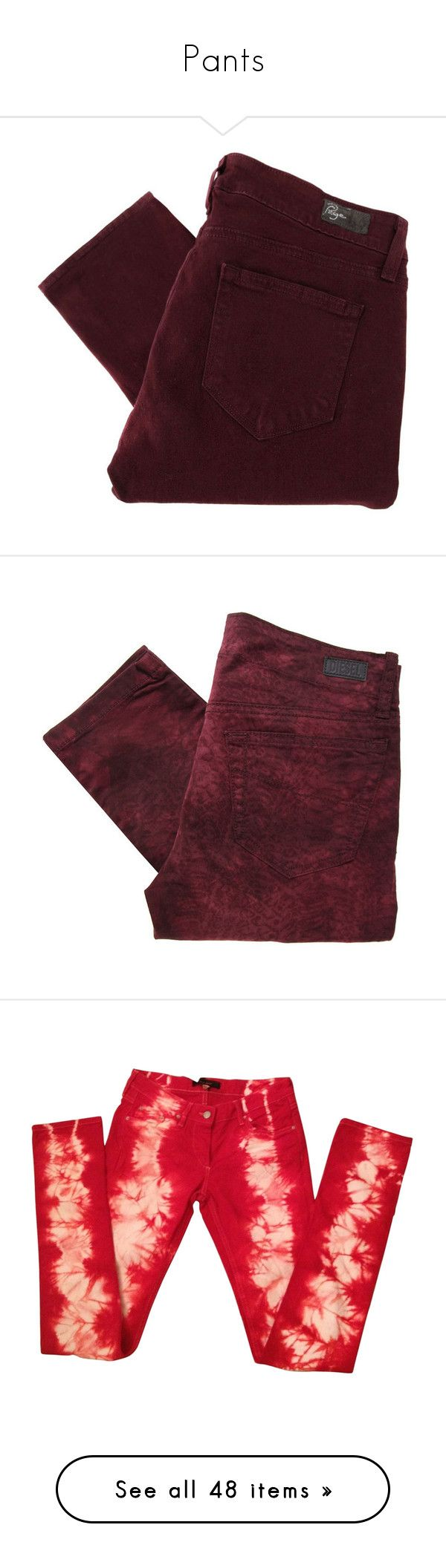 """""""Pants"""" by punkiero ❤ liked on Polyvore featuring pants, bottoms, jeans, trousers, women, slim fitted pants, ankle length pants, brown pants, 5 pocket pants and floral print pants"""