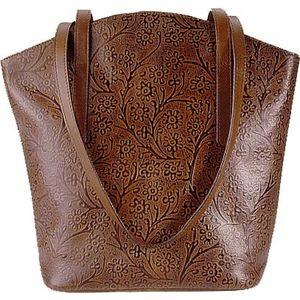 BONN - Embossed leather bag by Hidesign.