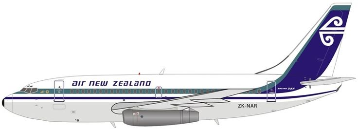 B737-200 (Air New Zealand) ZK-NAR with Stand