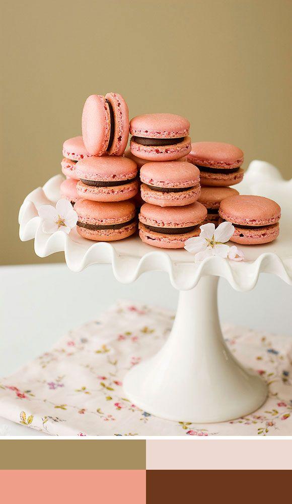 Color palette 'Sweet macarons' Kleurinspiratie.nl