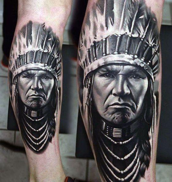 Indian Leg Tattoo Ideas For Men