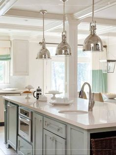 kitchen pendant and track lighting