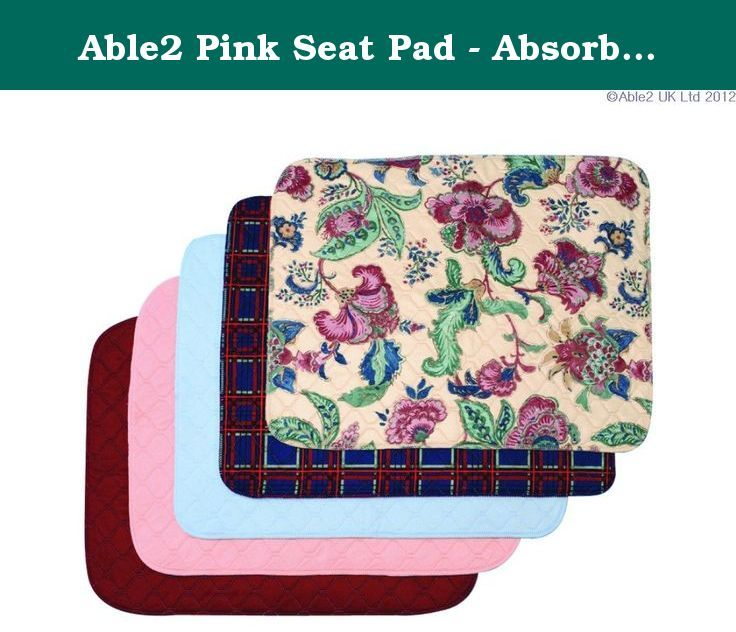Able2 Pink Seat Pad - Absorbs 1 Litre. Protect your favourite chair, car seat or wheelchair with a choice of 1 litre absorbent pads. They have a waterproof backing and are available in a choice of patterns.
