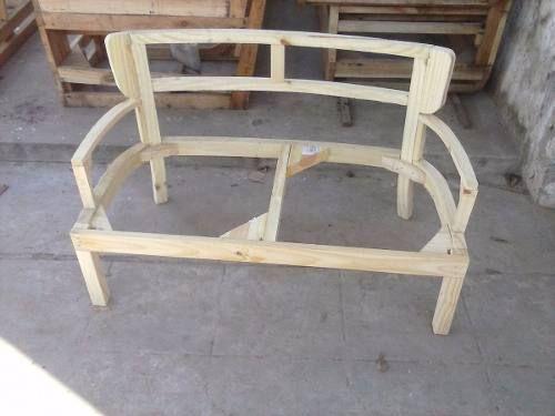 Esqueleto Estructura De Silla Sillon Matero Doble Con Brazos - $ 525,00