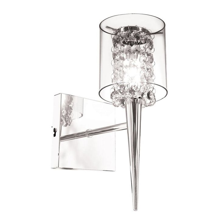 Website Photo Gallery Examples Bazz Glam In W Light Chrome Clear Arm Wall Sconce Mcb