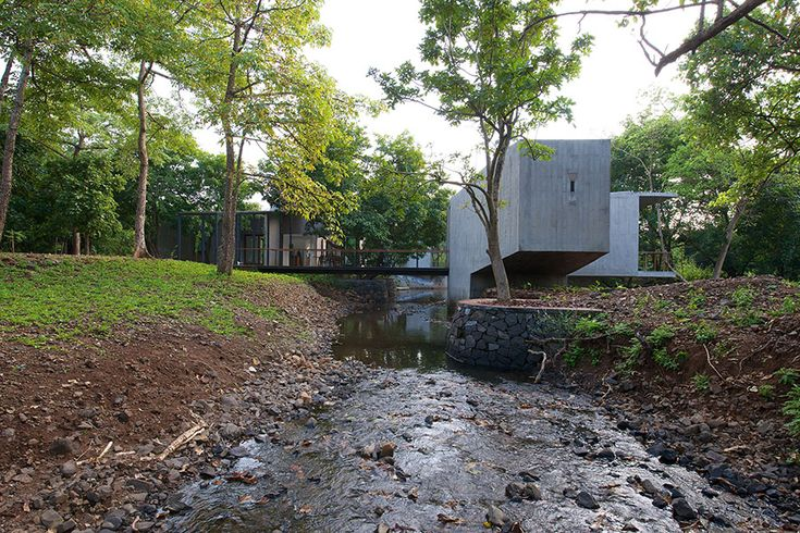 the monsoon stream running through the House on a Stream #sustainablearchitecture #retreat