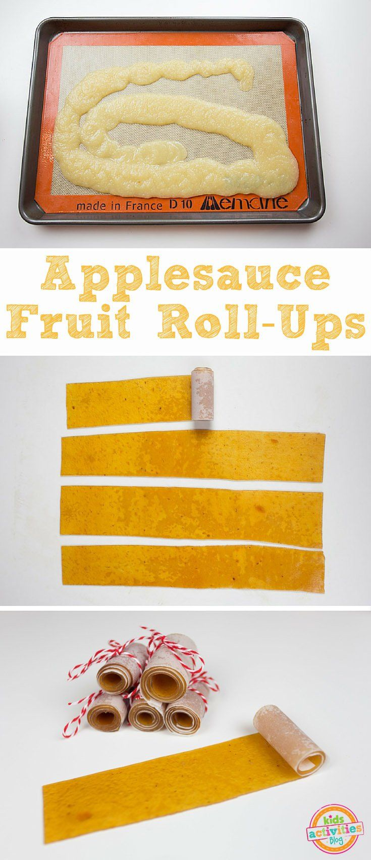 You just need one-ingredient to make Applesauce Fruit Roll-Ups. Easy, delicious, and kids love 'em! Perfect snack for school, on the road, or just because.