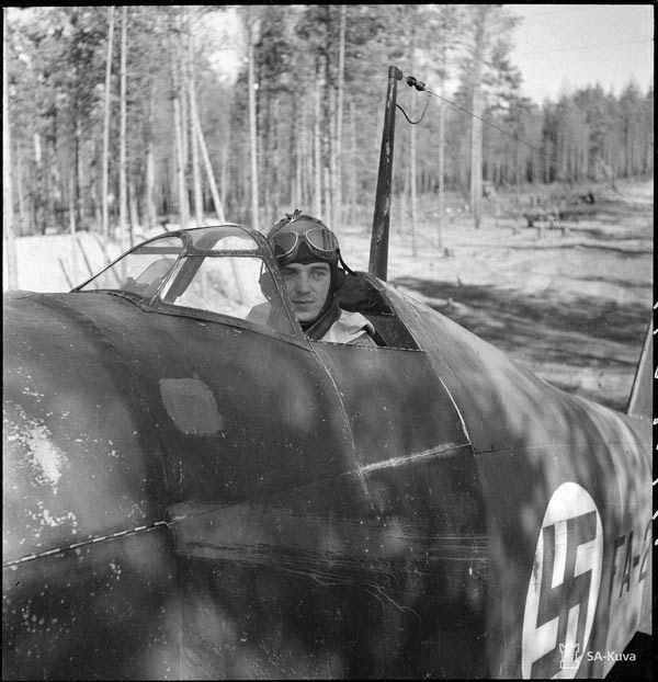 FAF / Suomen ilmavoimat Luutnantti Lauri Olavi Sihvo Fiat G.50