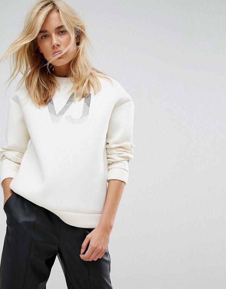 Versace Jeans Neoprene VJ Logo Sweatshirt - White