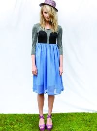 R/H SS13 Collection - Mickey Moon Dress in Lavender & Silk