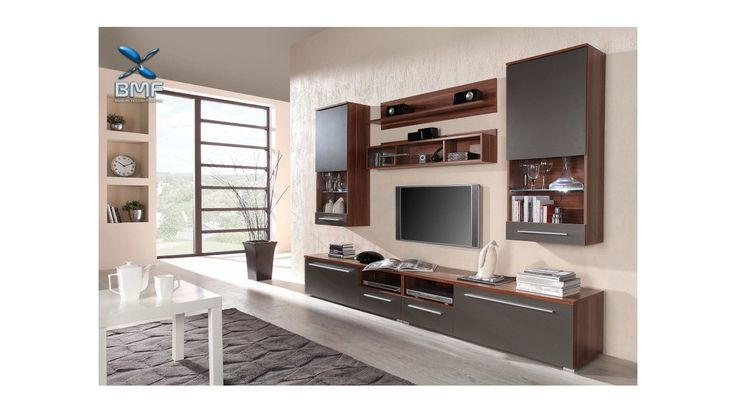 LUNA High GLOSS WHITE LED TV WALL Entertainment UNIT / Display Cabinet / Drawers