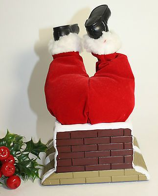 Santa's Stuck in The Chimney Animated With Motion Battery Operated Gemmy Ind