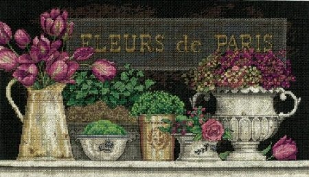 Amazon.com: Dimensions Needlecrafts Counted Cross Stitch by Kathryn White, Fleurs De Paris: Arts, Crafts & Sewing