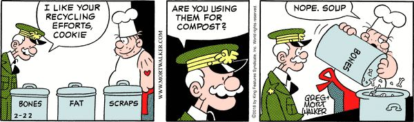 Beetle Bailey strip for February 22, 2018