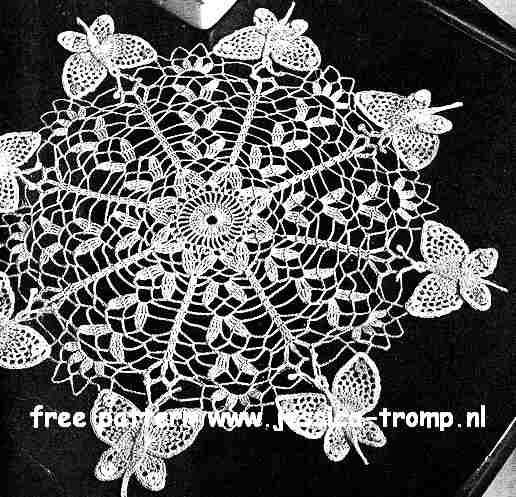 Butterfly doily free vintage crochet doilies patterns