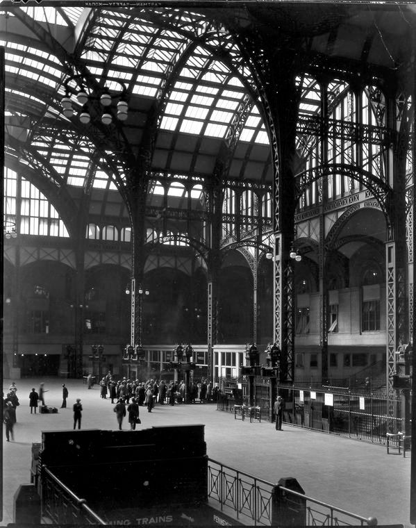 Penn Station, designed by McKim, Mead, and White. Completed 1910, demolished 1963.  Photo: Berenice Abbott