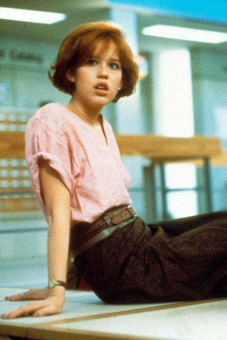 I am totally going to be Molly Ringwald for one of my Halloween Costumes!