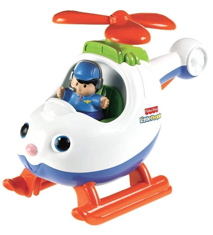 Amazon.com : Fisher-Price Little People Spin n' Fly Helicopter : Toy Vehicle Playsets : Toys  Games