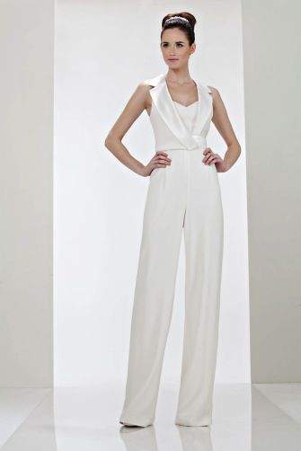 formal jumpsuit- used to have this in black with white satin lapels and black sparkle piece inside the bodice