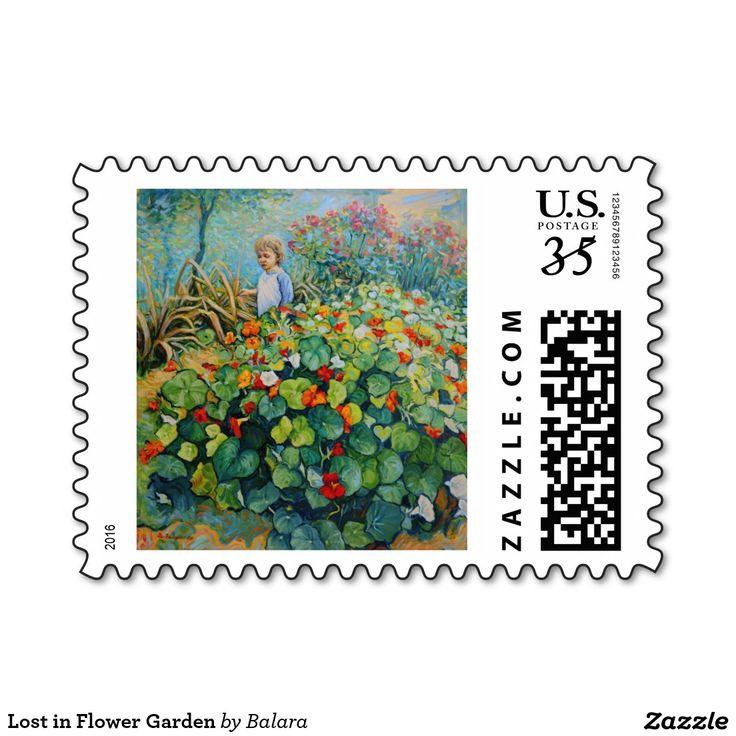 Lost in Flower Garden Postage
