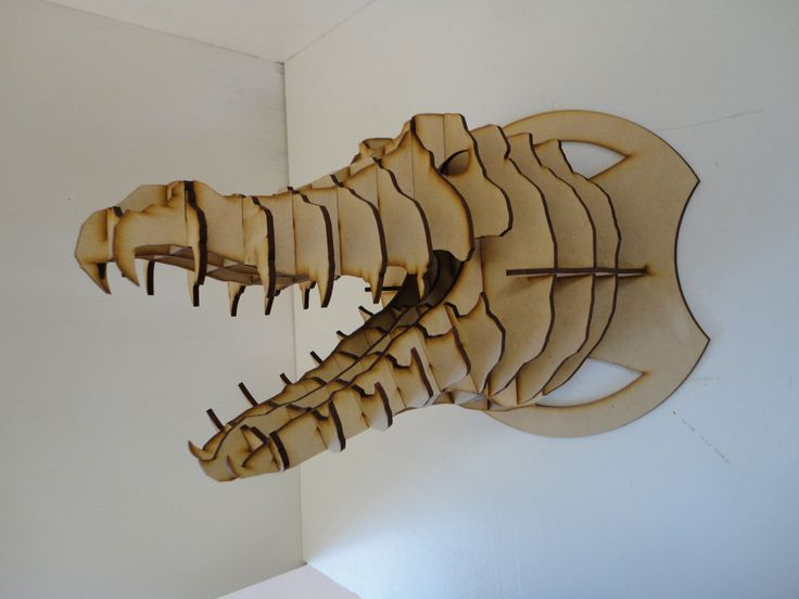cabeza lagarto mdf cabeza de animal trofeo rompecabezas 3d