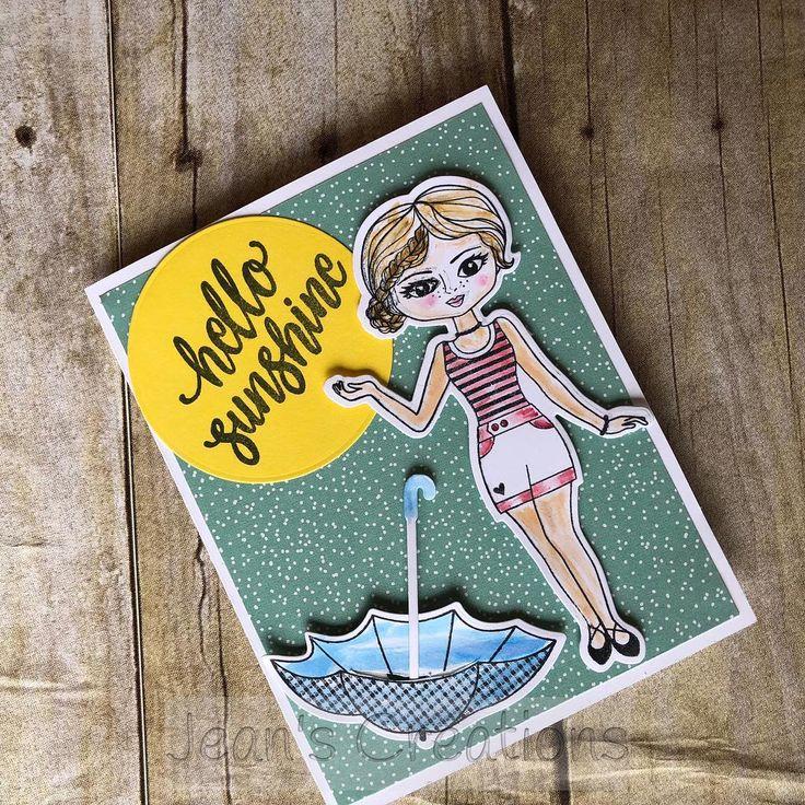Hello Sunshine with Rain & Shine Paper Doll #ctmh #ctmhpaperdoll