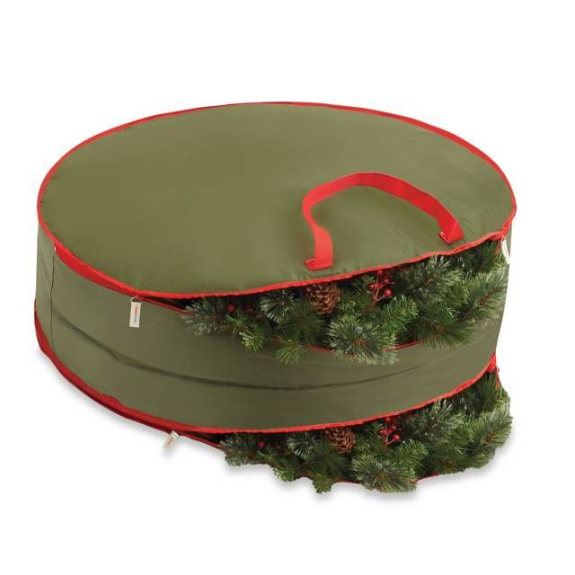 real simple 36inch doublesided holiday wreath storage bag - Wreath Storage Box