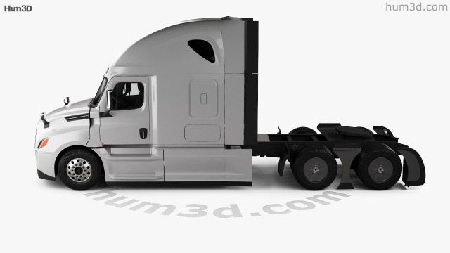 360 View Of Freightliner Cascadia 126bbc 72 Sleeper Cab Raised Roof Aerox Tractor Truck 2018 3d Model Hum3d Store Freightliner Freightliner Cascadia Trucks