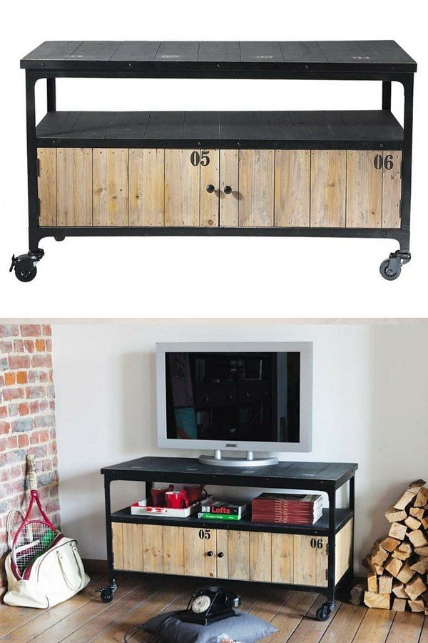 17 best ideas about meuble tv pas cher on pinterest tv - Meuble industrielle pas cher ...