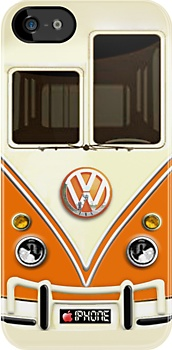 My inner geek is thrilled at the thought of this -- Orange Volkswagen VW iPhone case