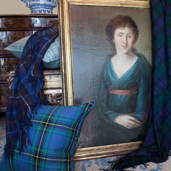 Our Augustus Tartan Lambswool/Angora throw - from our collection of pillows and throws at SMW Home.