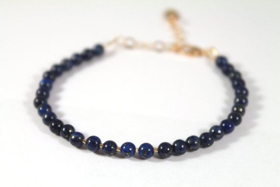 The Lapis Chéri Bracelet with Natural Lapis Lazuli by #thelipstickdiaries, £19.00  #jewelry  #jewellery #bracelet #bracelets #beads #handmade #etsy #lapislazuli #gemstone