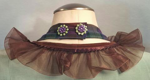 Victorian Steam Punk Tartan Ball Gown