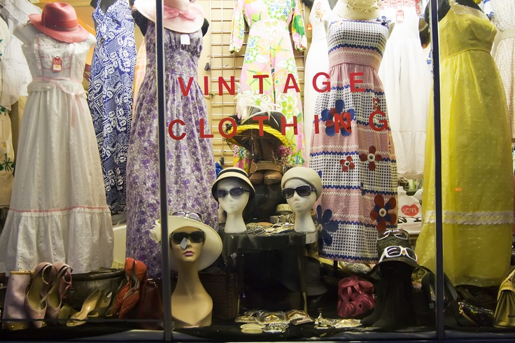 Vintage clothing shop store window display   Store Display Ideas ...
