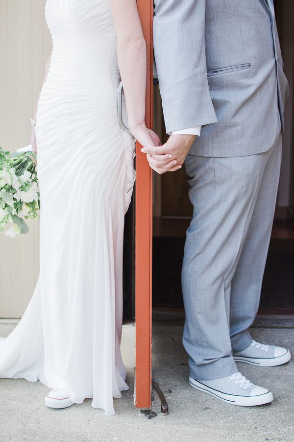 Romantic wedding photo idea before the ceremony (Photo by Danyelle Dee Photography)