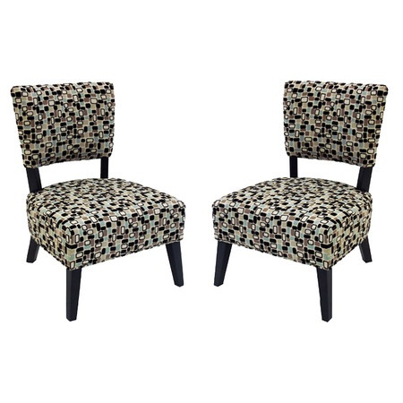 Offer guests an extra seat with this stylish design, an enviable addition to your well-appointed home.   Product: Set of 2 chairs...