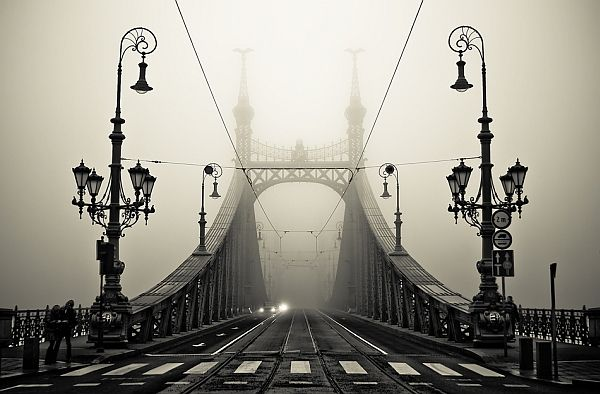 i love how ornate this bridge and the light posts are