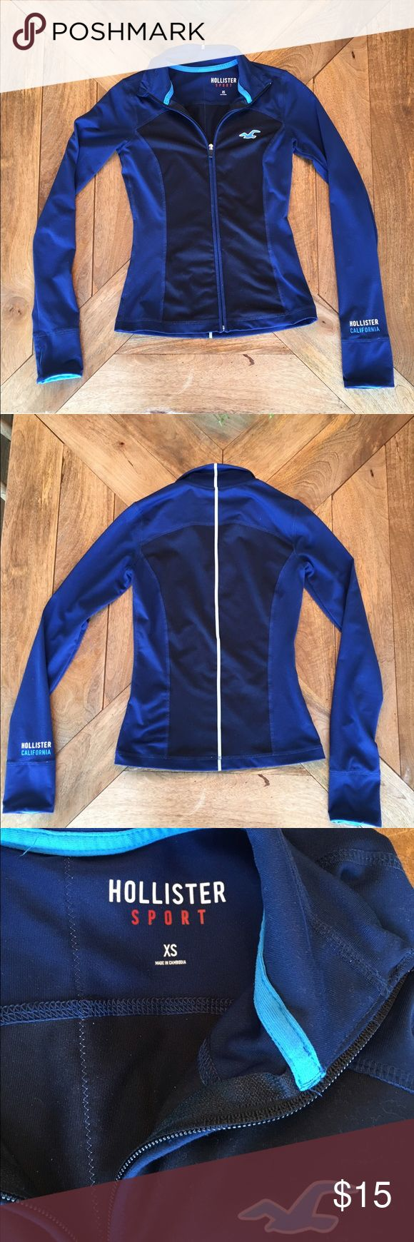 Hollister Track/Jogging Jacket Like new condition, perfect athletic wear for any outdoor activities. Light enough for carrying but provides sufficient warmth when it's brisk out. Hollister Jackets & Coats