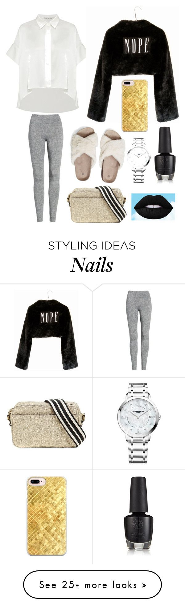 """""""Untitled #811"""" by lilly-smithx on Polyvore featuring Treasure & Bond, Wet Seal, RED Valentino, Casetify and Baume & Mercier"""